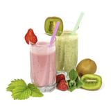 Photo smoothiee fraise et smoothie kiwi