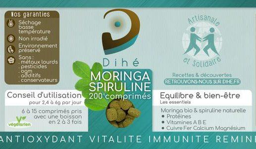 Moringa et spiruline bio en comprimés