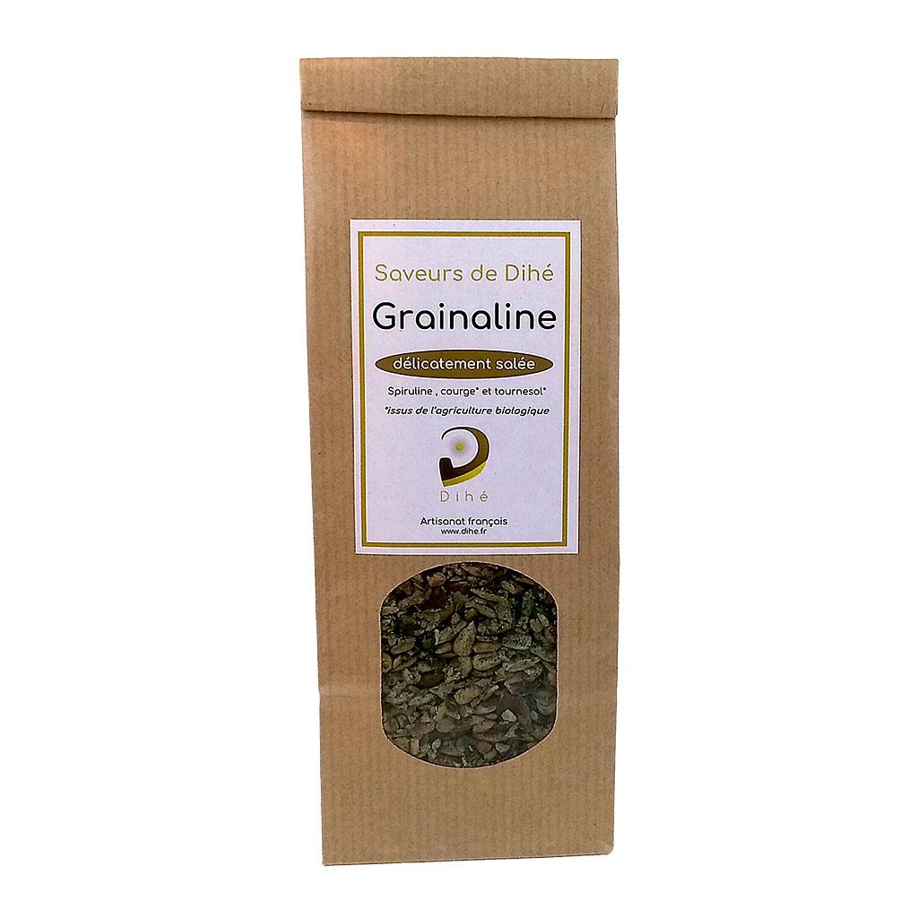 Condiment à la spiruline et aux graines de courge et de tournesol