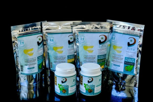 Photo de la gamme de produits moringa bio de Dihé