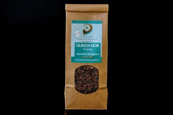 Sachet de graines de quinoa noir bio et artisanal Dihé