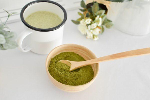 Photo de la recette du matcha & moringa latte