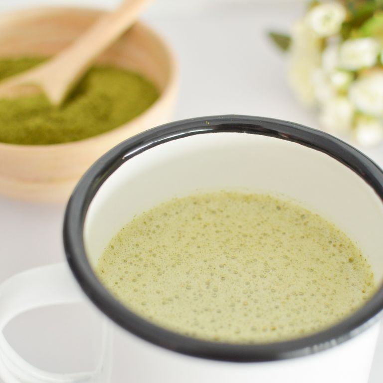Photo de la tasse de matcha