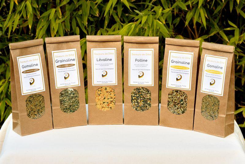 Sachets de Saveurs de Dihé, condiments à la spiruline riches en nutriments