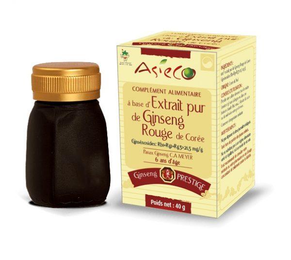 panax ginseng rouge de corée photo du pot et de sa boîte