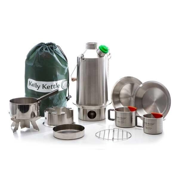"""Kit ultime """"base camp"""" de la bouilloire autonome kelly kettle"""