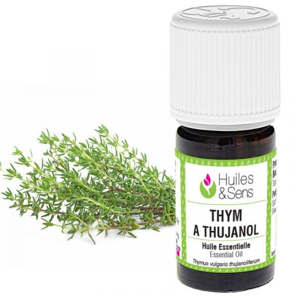 Flacon d'huile essentielle bio de Thym à thujanol provençale