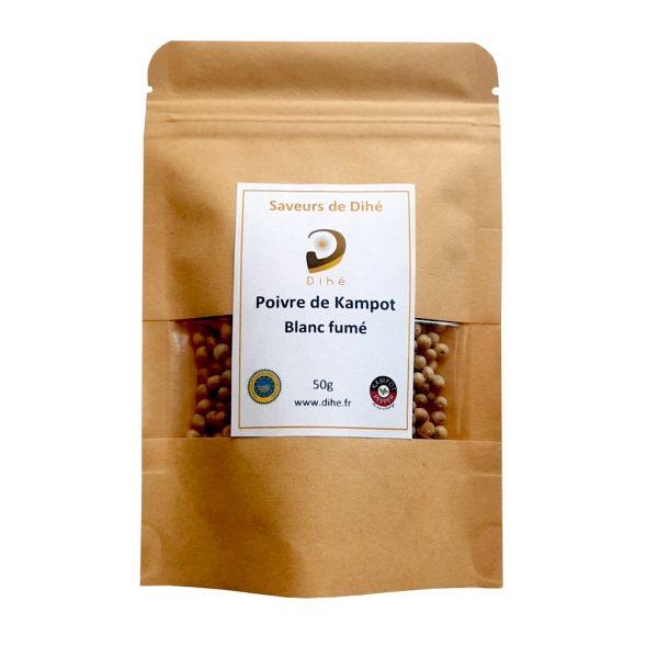 Acheter du poivre de Kampot blanc fumé Dihé sur notre boutique en ligne