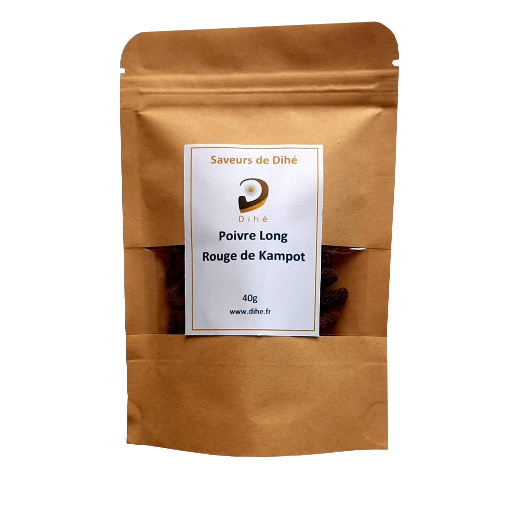 Acheter du poivre long rouge de Kampot Dihé sur notre boutique en ligne
